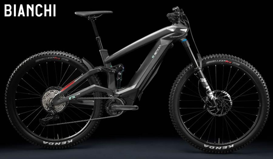 Bianchi e-Omnia FX-Type 2021 in colorazione grigio scuro