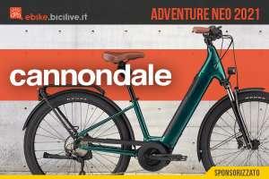 La nuova ebike per la città e il trekking Cannondale Adventure Neo 2021