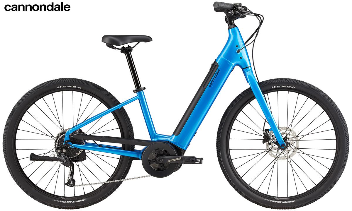 La Adventure Neo 4 in colorazione electric blue vista lateralmente