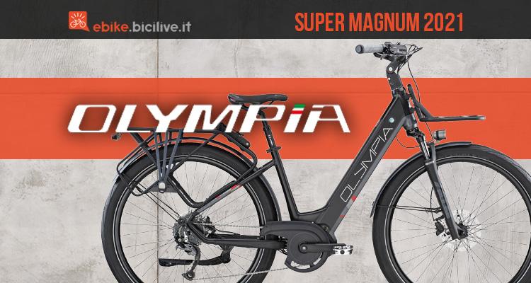 La nuova ebike da trekking Olympia Super Magnum 2021