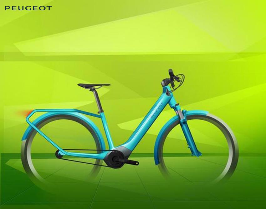 Bozza del prototipo della city e-bike Peugeot eC01 Crossover