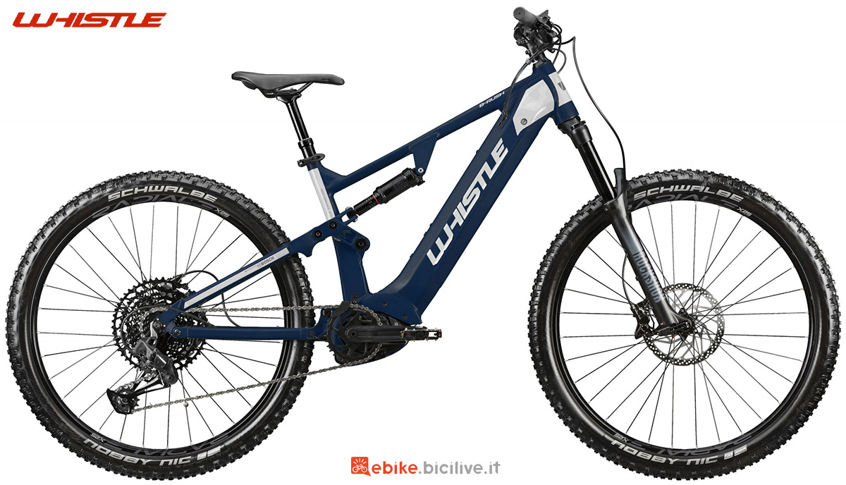 La nuova mountainbike elettrica biammortizzata Whistle B-Rush A7.1 2021