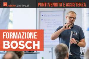 La formazione offerta da Bosch per l'assistenza e i punti vendita ebike