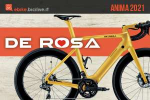 La nuova ebike da corsa De Rosa Anima 2021 in colorazione fashion gold