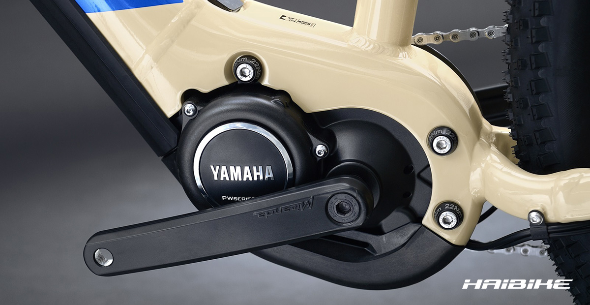 Il motore Yamaha montato su alcuni modelli di bici elettrica Haibike 2021