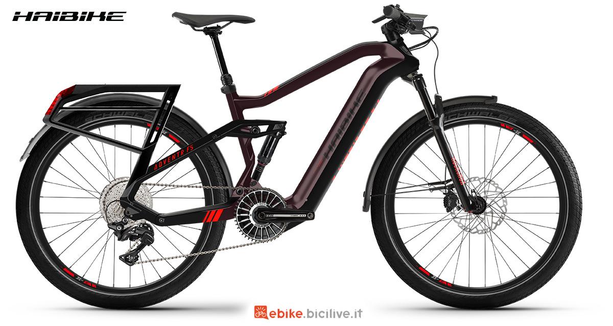 La nuova bici elettrica da trekking Haibike Adventr FS 2021 vista lateralmente