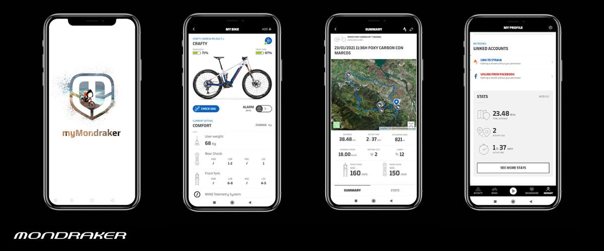 L'app my mandrake collegata al sistema di telemetria Mind di Mondraker