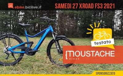 Il test della nuova bici elettrica da trekking Moustache Samedi 27 Xroad FS3 2021