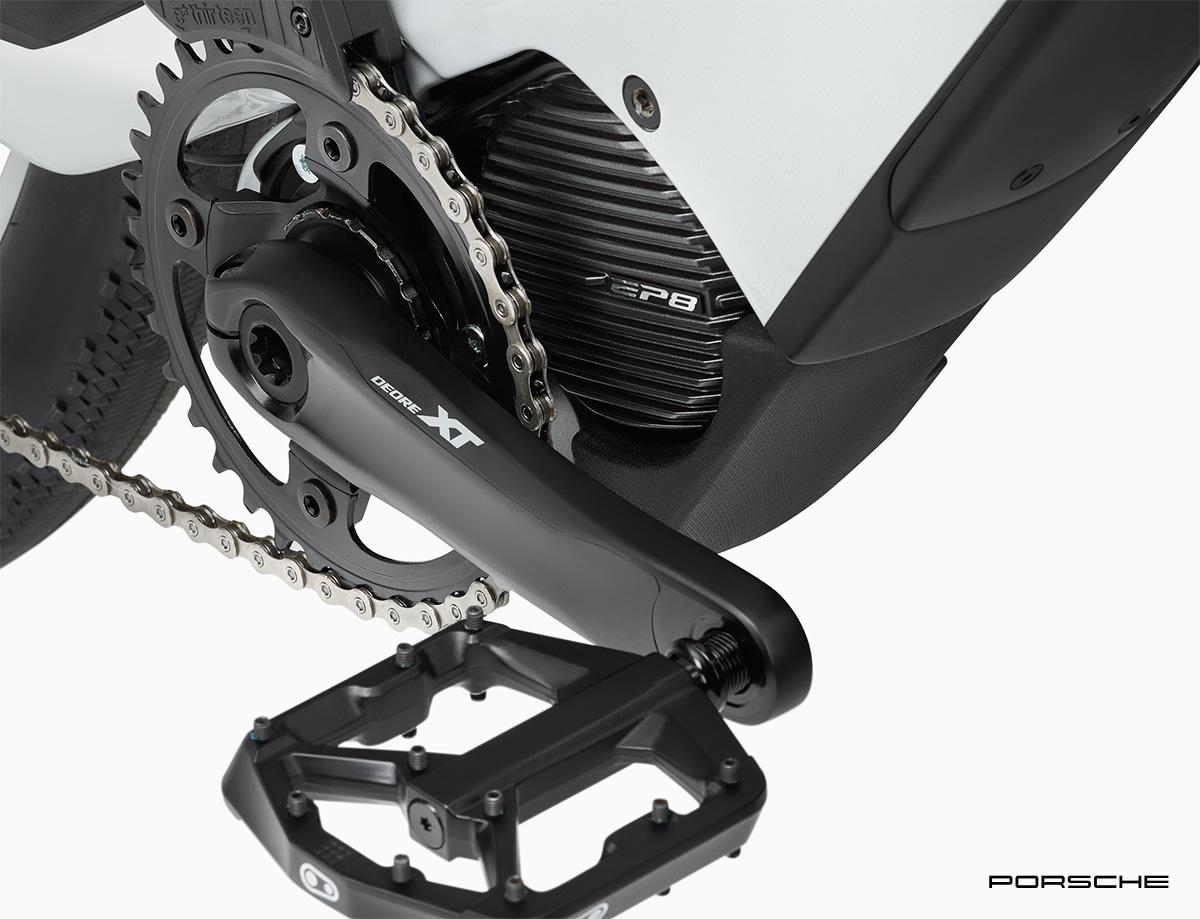 Il motore Shimano EP8 montato sulla nuova e-bike di Porsche