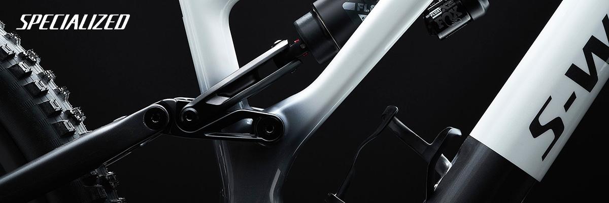 Dettaglio dell'ammortizzatore posteriore montato sulle nuove mtb elettriche Specialized Turbo Levo 2022