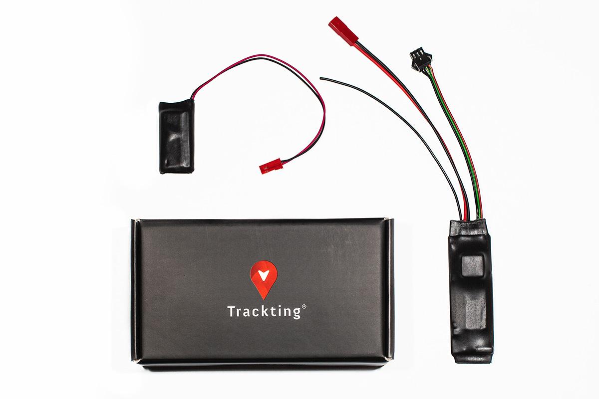 Particolare del piccolo dispositivo Trackting EVO