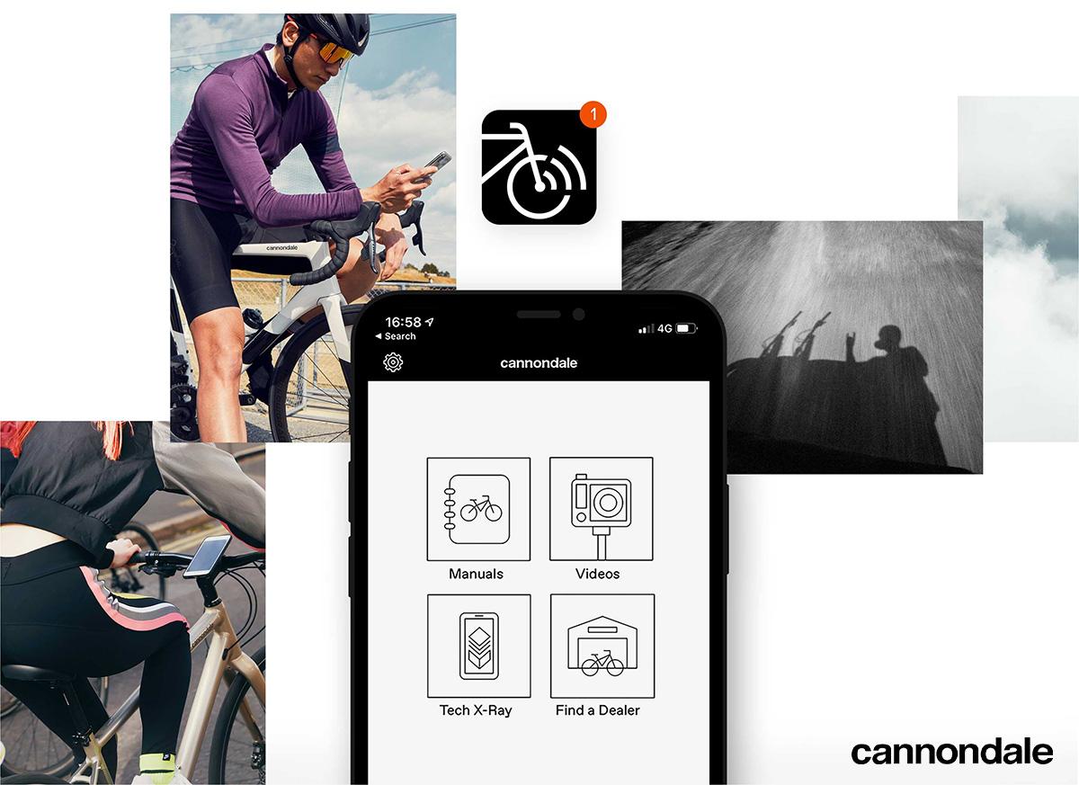 L'app di Cannondale permette di visualizzare relativi ai componenti dell'ebike