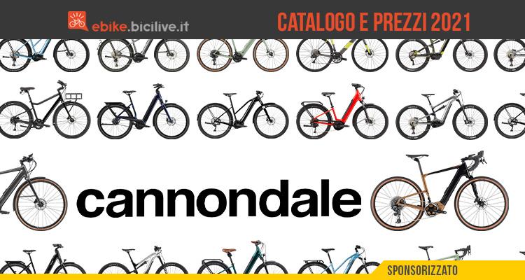 Il catalogo e i prezzi delle nuove ebike Cannondale 2021
