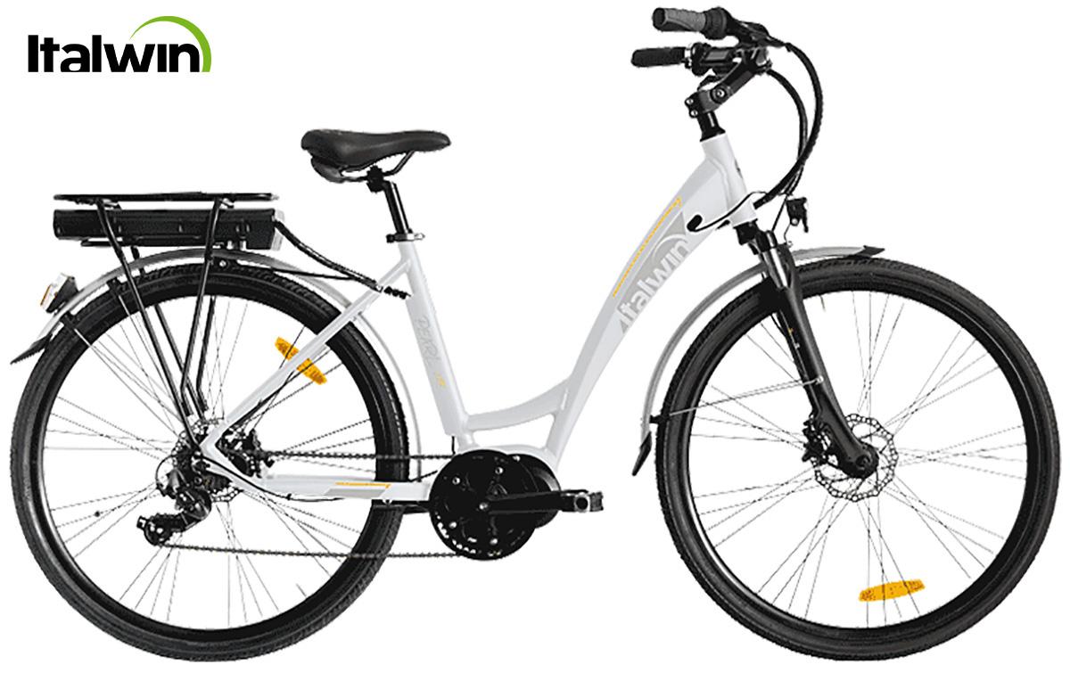 La nuova bici elettrica da città Italwin Pearl Lite 2021 in colorazione bianca