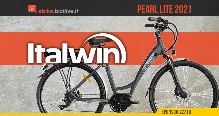 La nuova bici elettrica da città Italwin Pearl Lite 2021