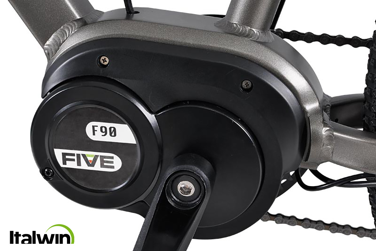 Il motore five da 95 NM montato sulle nuove city bike elettriche Italwin Pearl Lite 2021