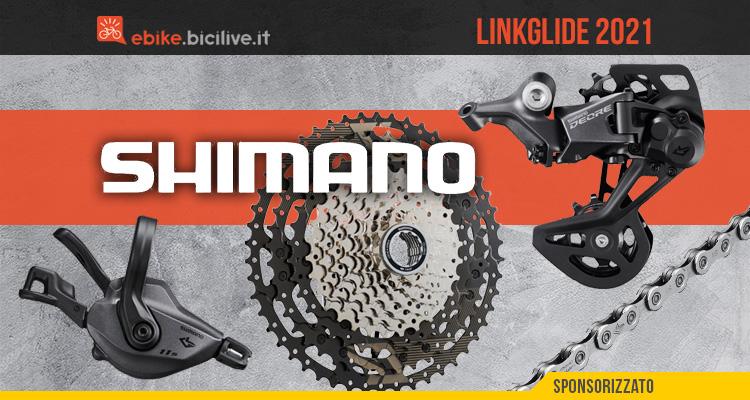 Le nuove componenti per ebike ed mtb Shimano Linkglide 2021