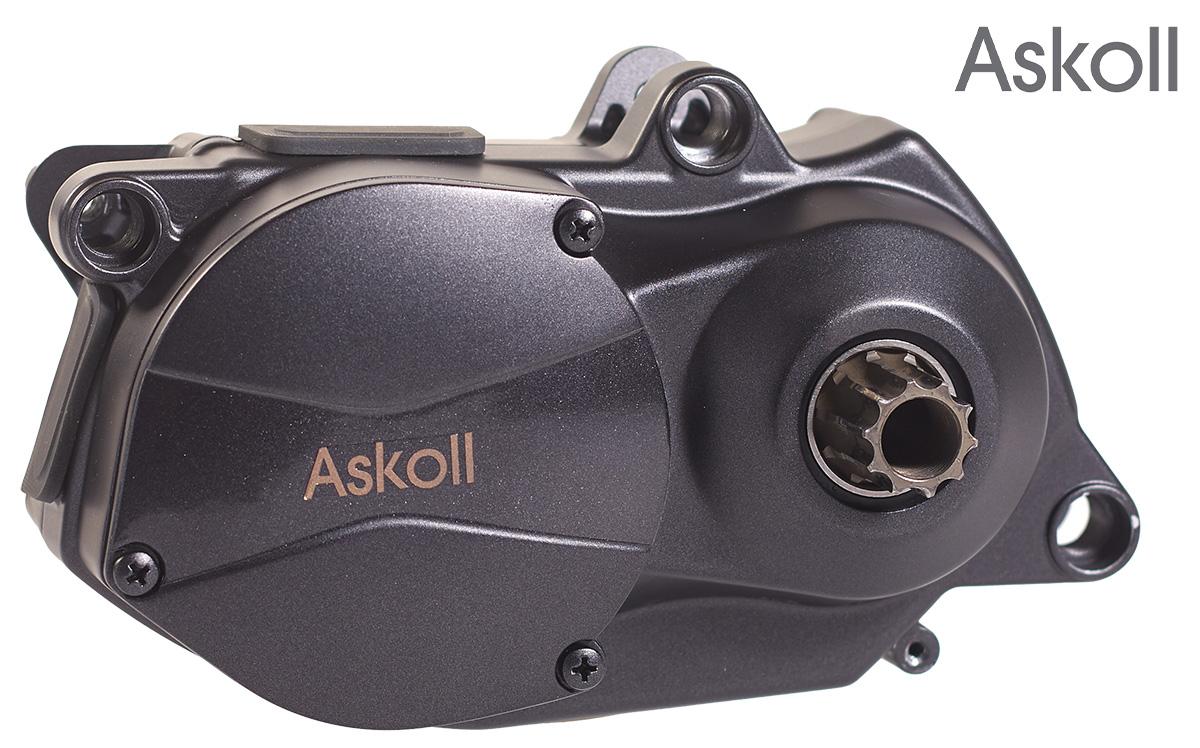 Dettaglio del motore per ebike Askoll Drive C90A visto dalla parte del logo aziendale