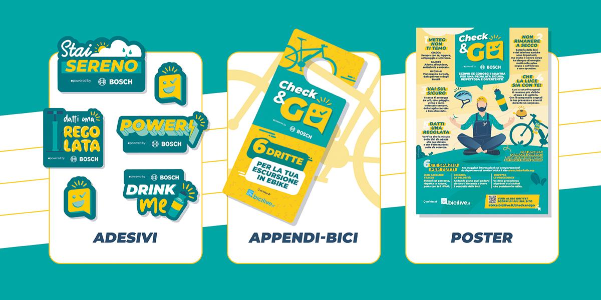 """Il kit offerto da Bosch per l'operazione """"Check and Go"""" 2021"""