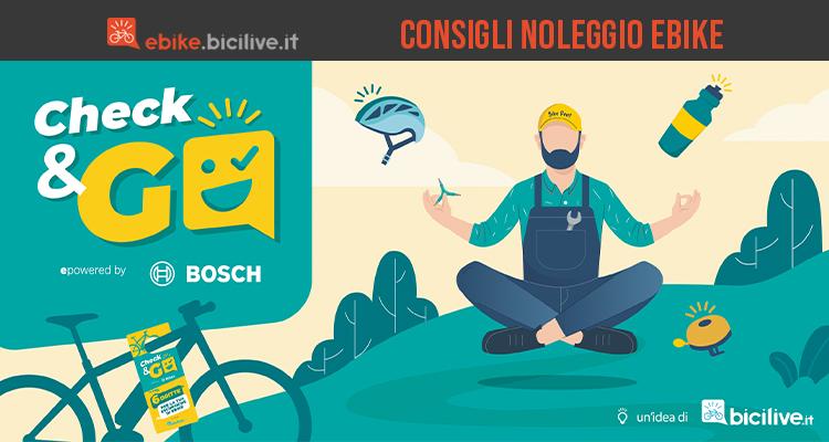 Check and Go è 'iniziativa di Bosch in collaborazione con Bicilive per consapevolizzare sulla sicurezza in bici elettrica nel 2021