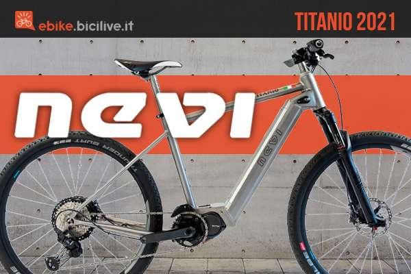 La nuova mtb elettrica Nevi in Titanio 2021