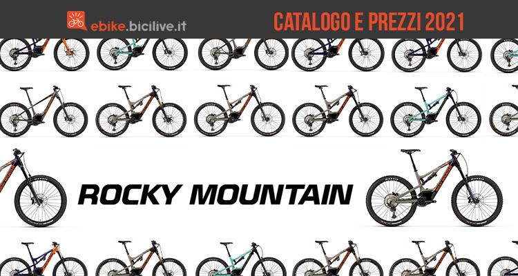 Il catalogo e i prezzi delle nuove emtb Rocky Mountain 2021