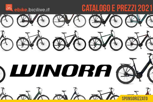 Il catalogo e i prezzi di listino delle nuove ebike Winora 2021