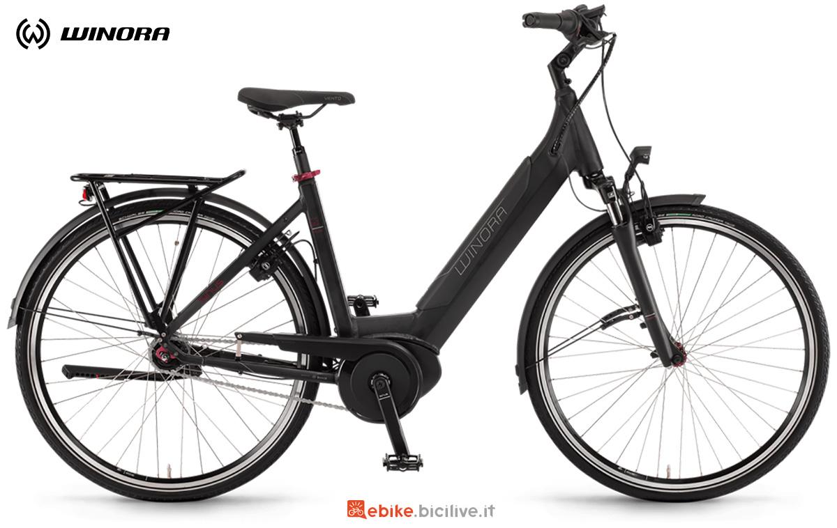 La nuova bici elettrica da città e trekking Winora Sinus In7f 2021
