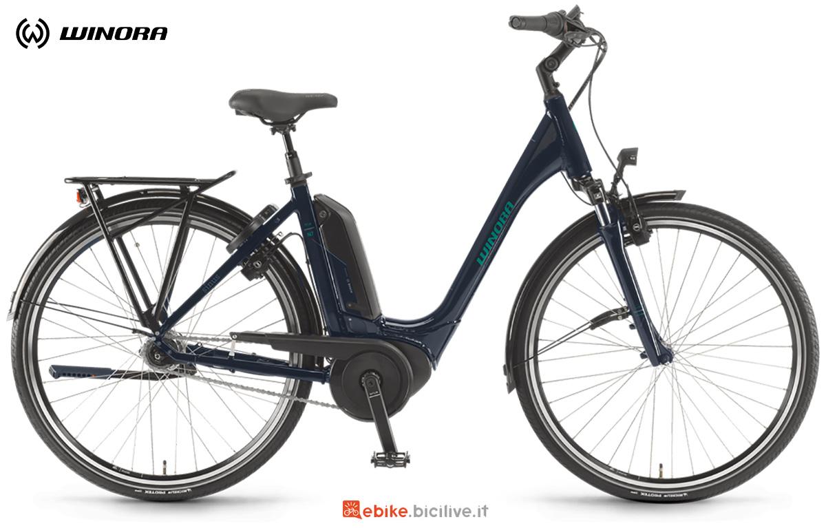 La nuova bici elettrica urbana e da trekking Winora Tria N7f 2021