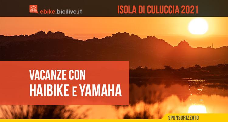 La vacanza sull'Isola di Culuccia promossa da Haibike e Yamaha con i loro mezzi di trasporto 2021