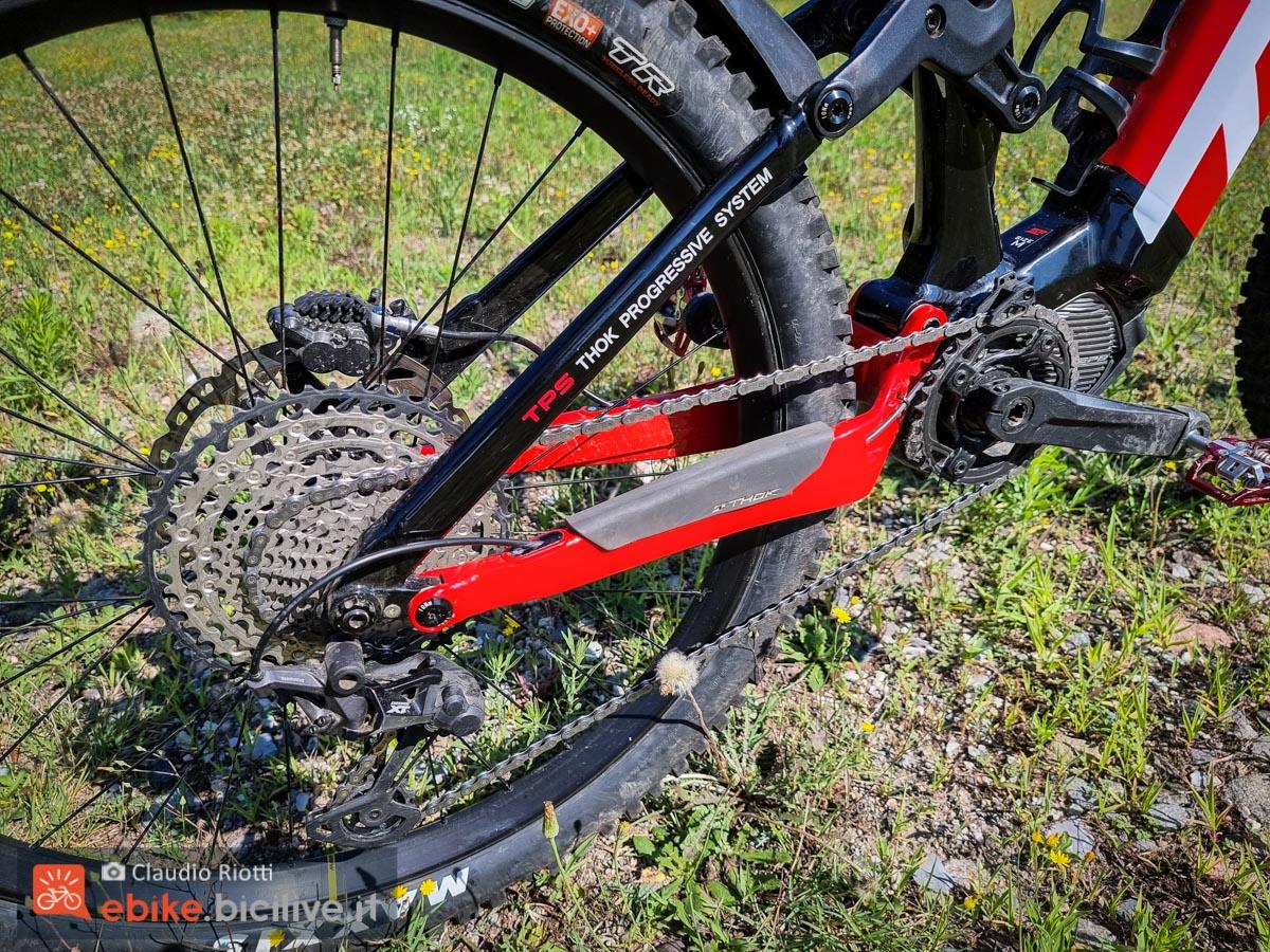 Foto del telaio della mountain bike elettrica Thok TK01 R