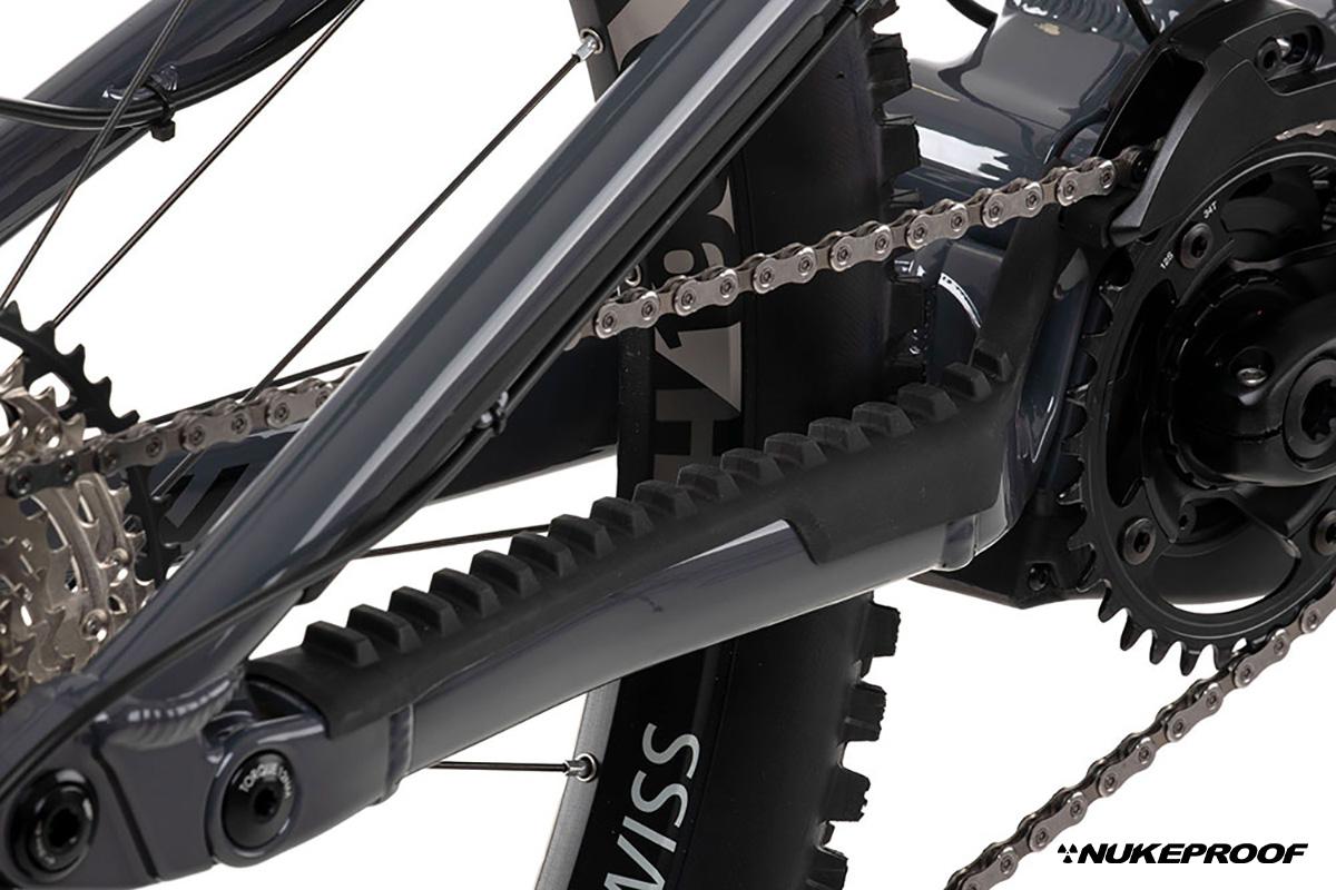 Dettaglio della trasmissione della nuova mountainbike elettrica Nukeproof Megawatt 297 2022