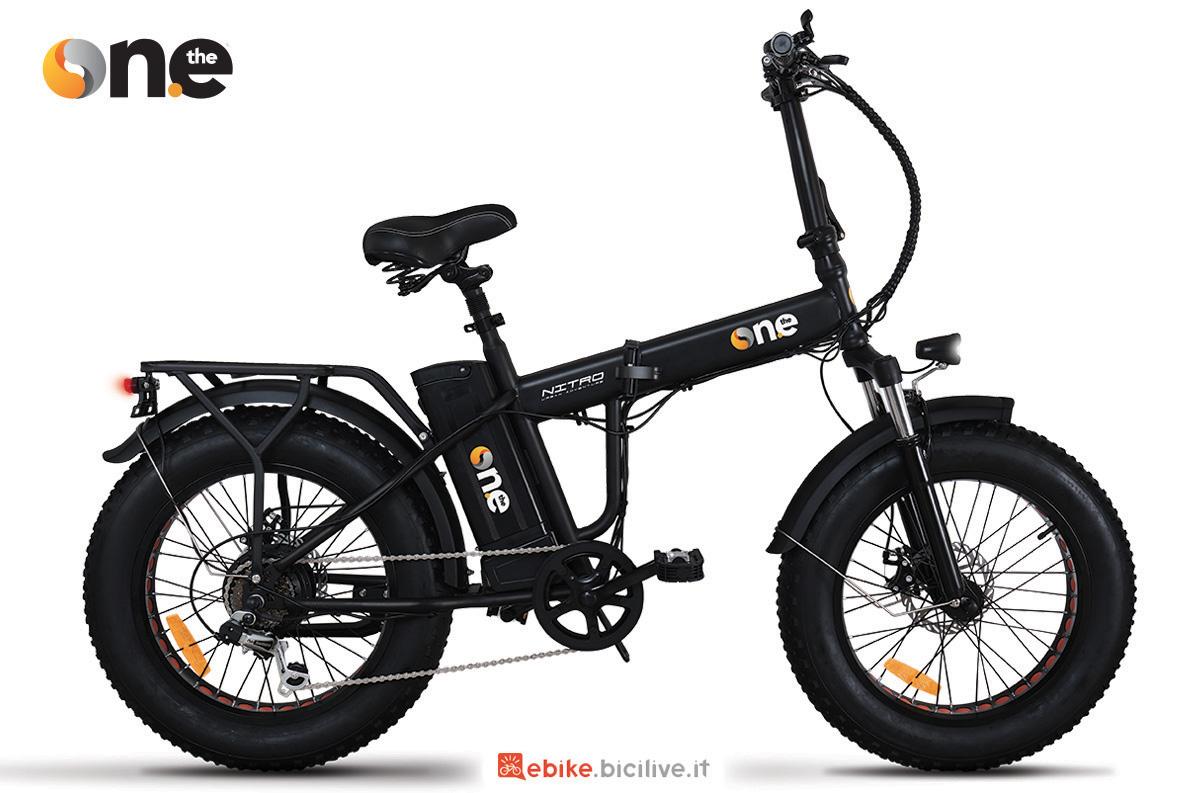 La nuova bici pieghevole a pedalata assistita The One Nitro 2021
