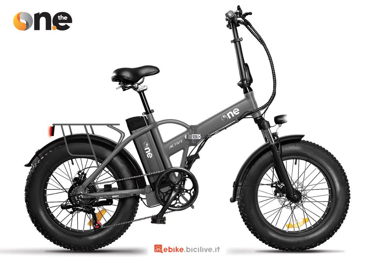La nuova bici pieghevole a pedalata assistita The One Rider Active 2021