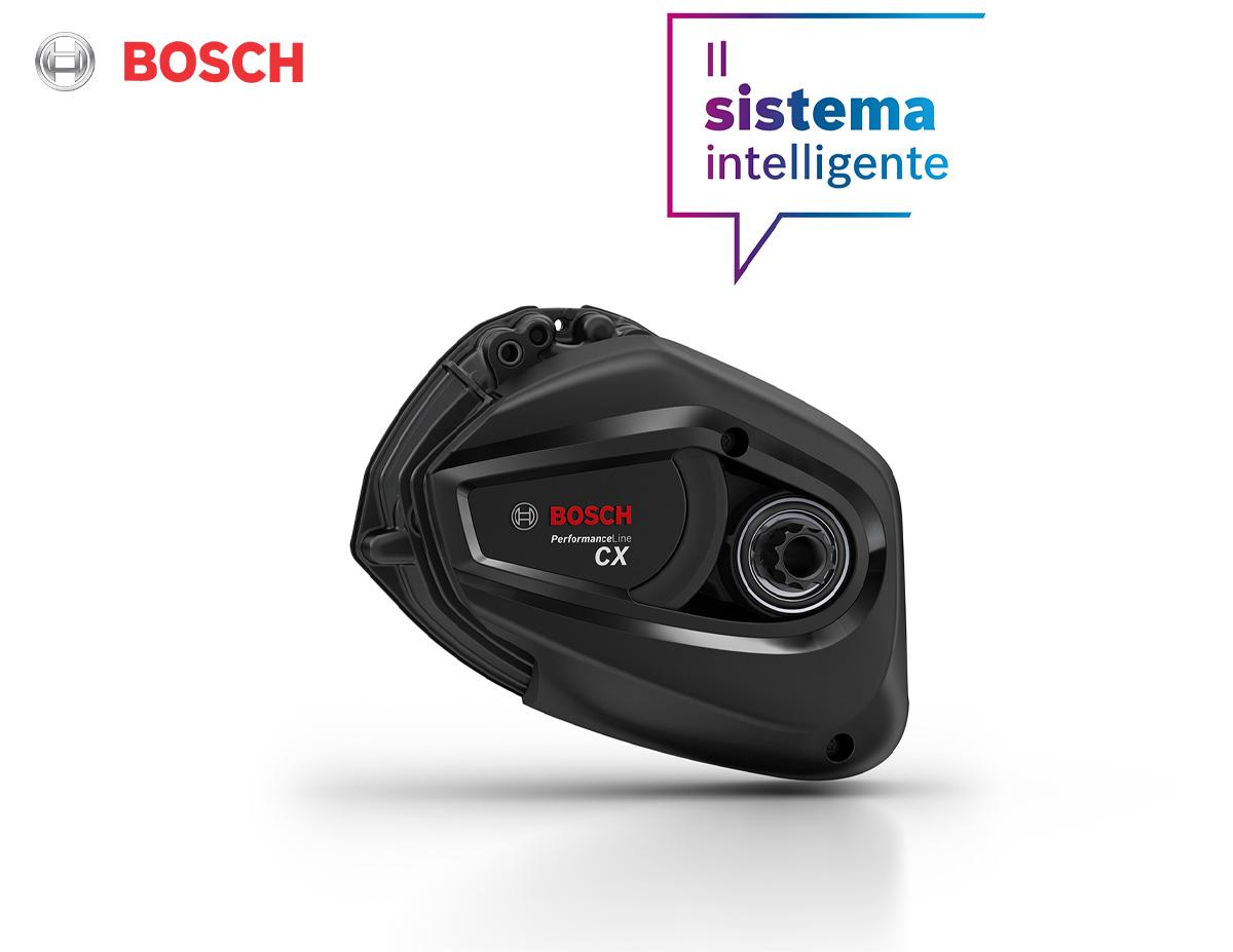 Dettaglio del motore Bosch Performance Line CX con coppia da 85 Nm