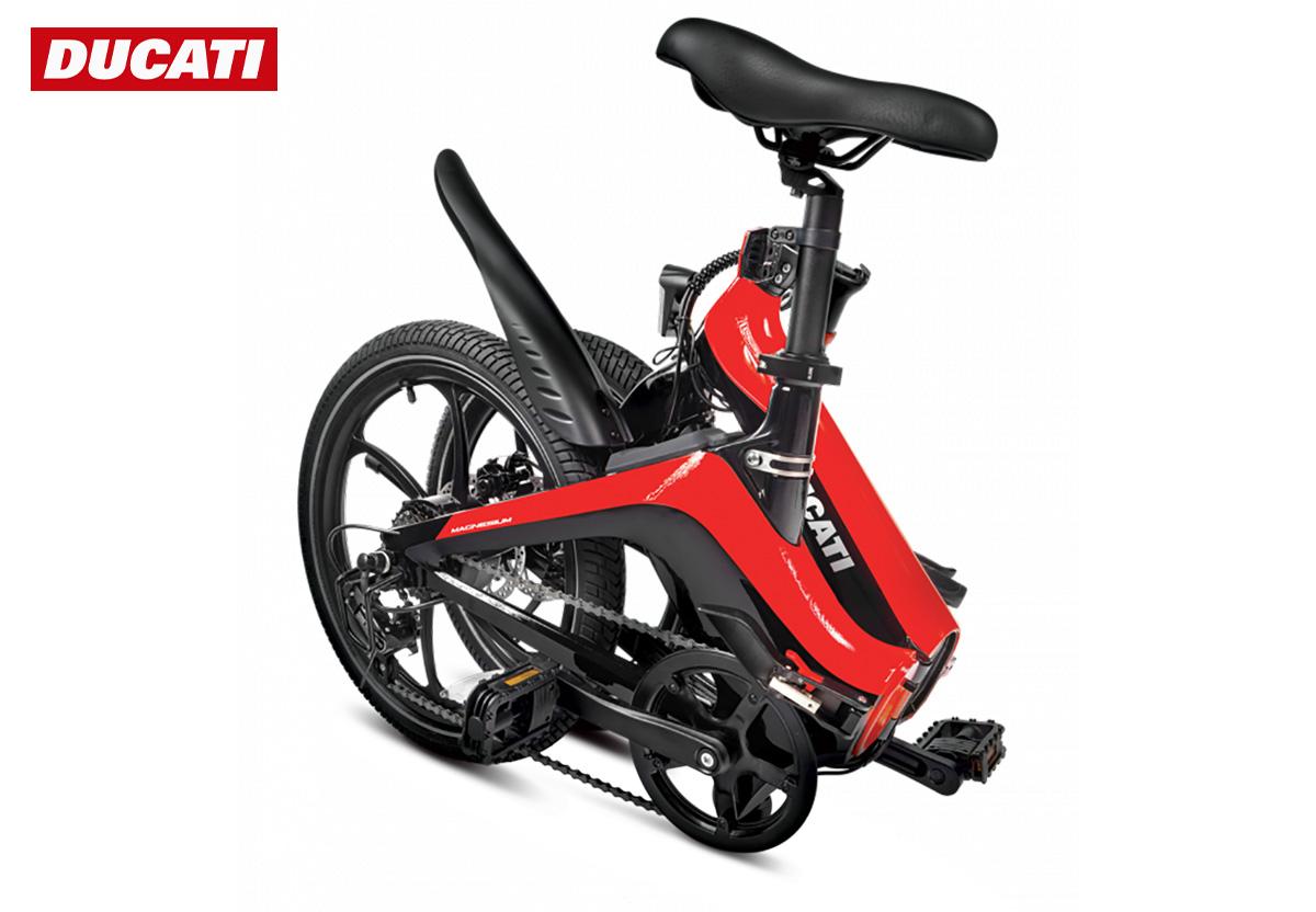 La nuova bici elettrica pieghevole Ducati MG 20 2022 piegata