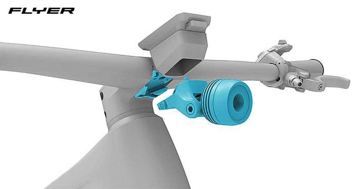 Dettaglio dell'interfaccia Monkeylink presente su alcuni modelli di ebike Flyer 2022