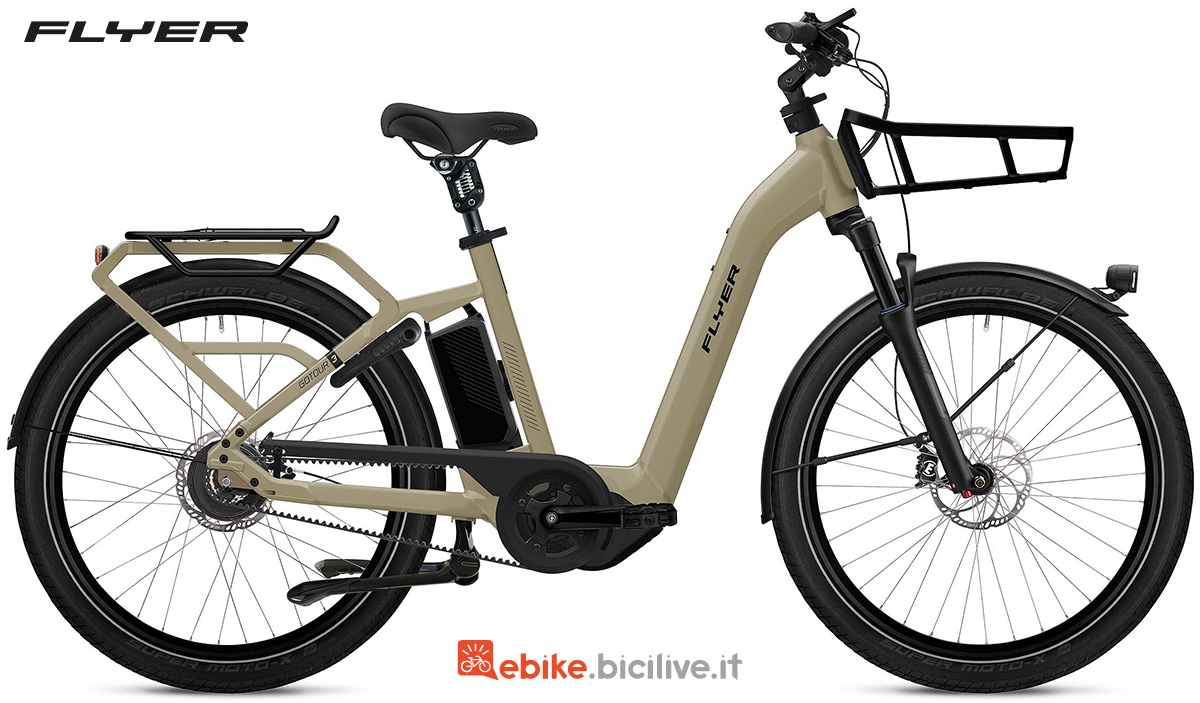 La nuova bici elettrica per il trekking Flyer Gotour3 2022