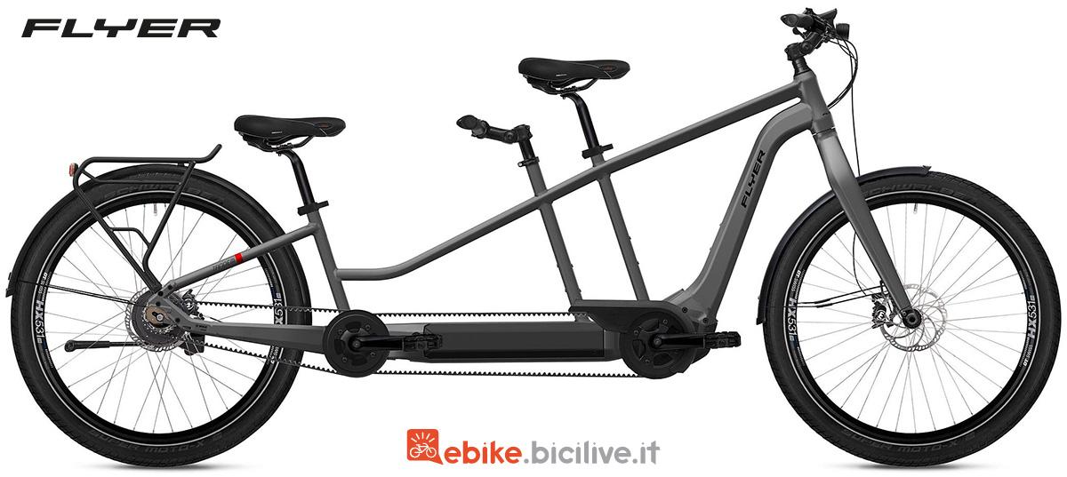 La nuova bici tandem elettrica Flyer Tandem 2022