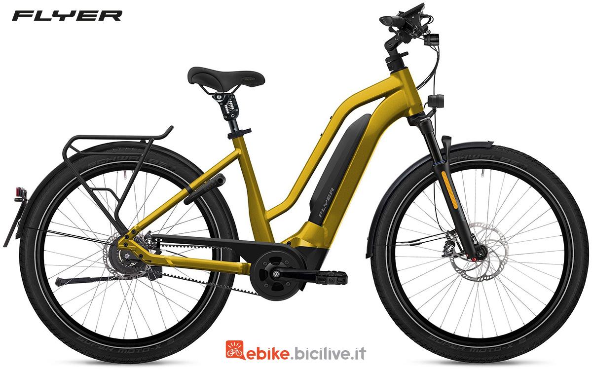 La nuova bici elettrica da trekking Flyer Upstreet3 2022