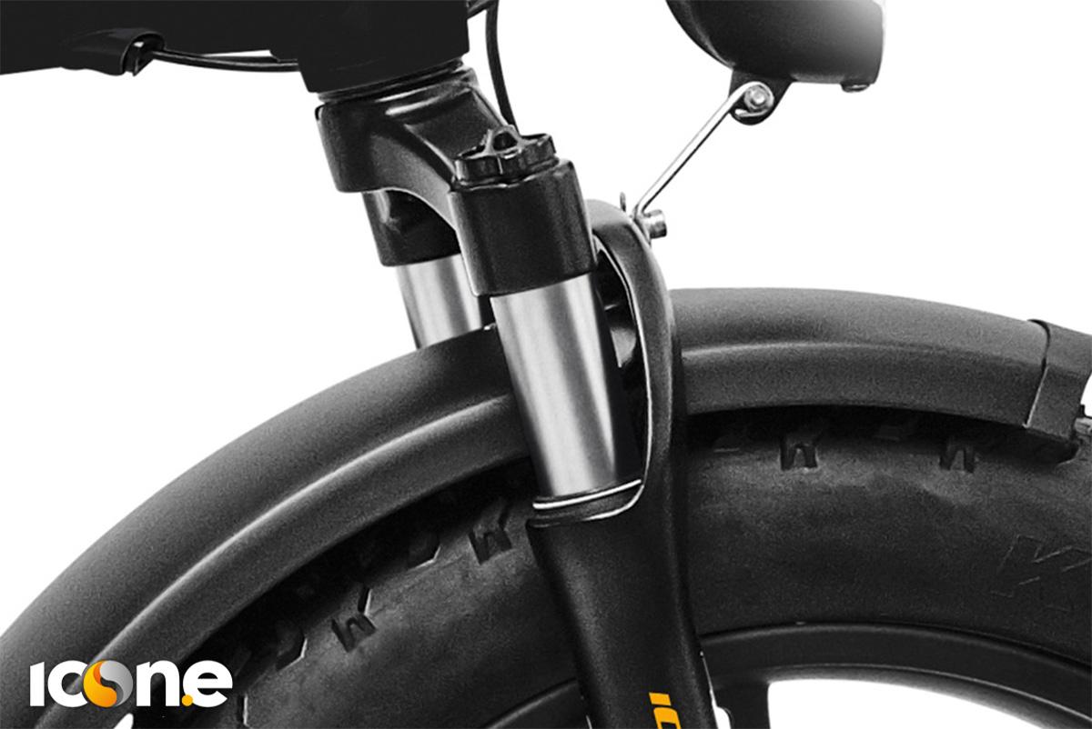 La forcella ABS regolabile a molla anteriore della ebike pieghevole Icon.e x7 iCross