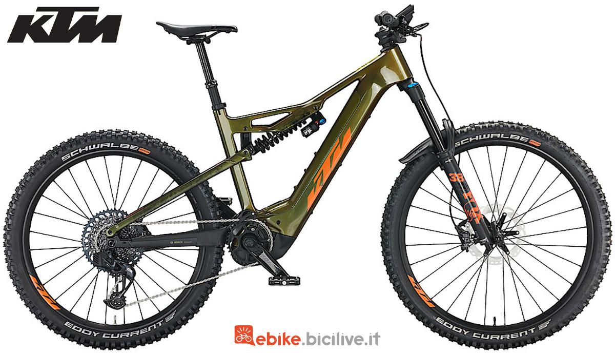 La nuova mountainbike full elettrica KTM Macina Prowler Prestige 2022