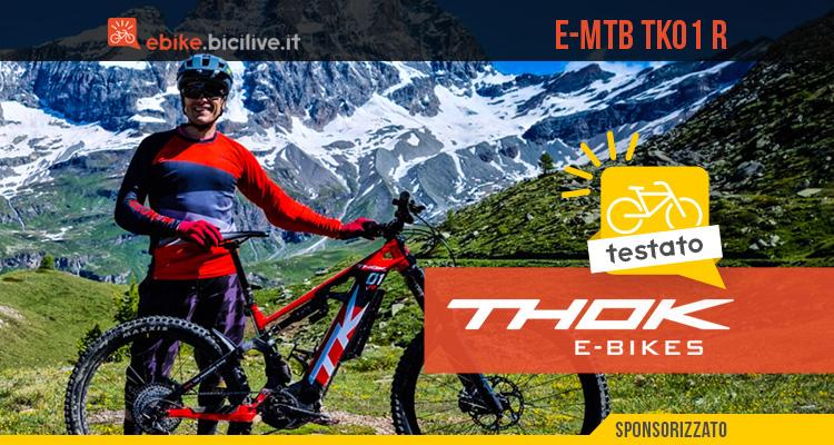 THOK TK01 R: test recensione eMTB con motore Shimano EP8