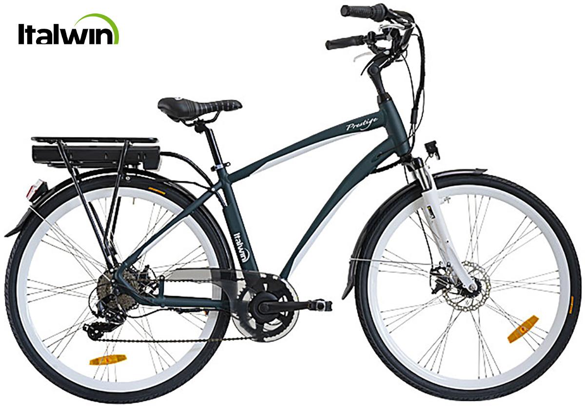 La bici elettrica Italwin Prestige2 in versione man e colorazione green british
