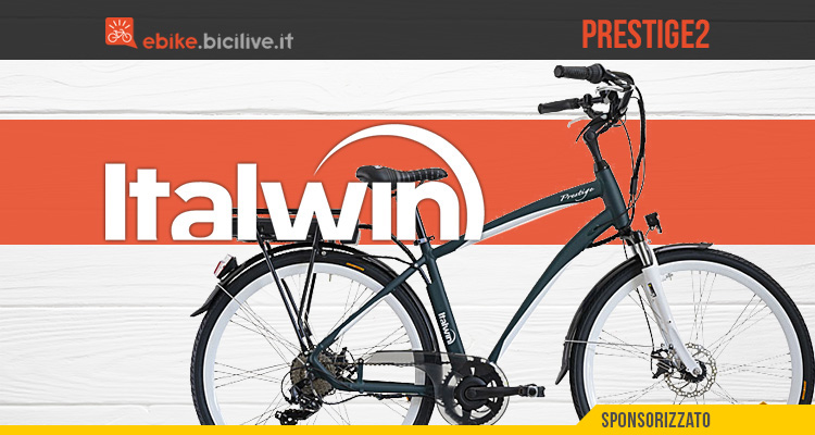 Italwin Prestige 2: bici elettrica urbana motore FIVE