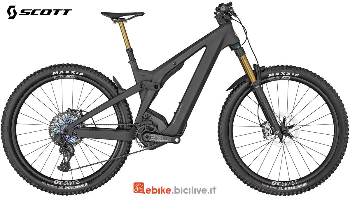 La Scott Patron eRide 900 Ultimate Bike in colorazione nera