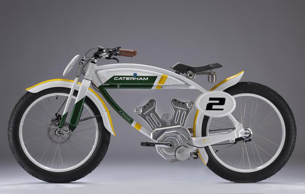 Una bici a pedalata assistita Caterham Classic