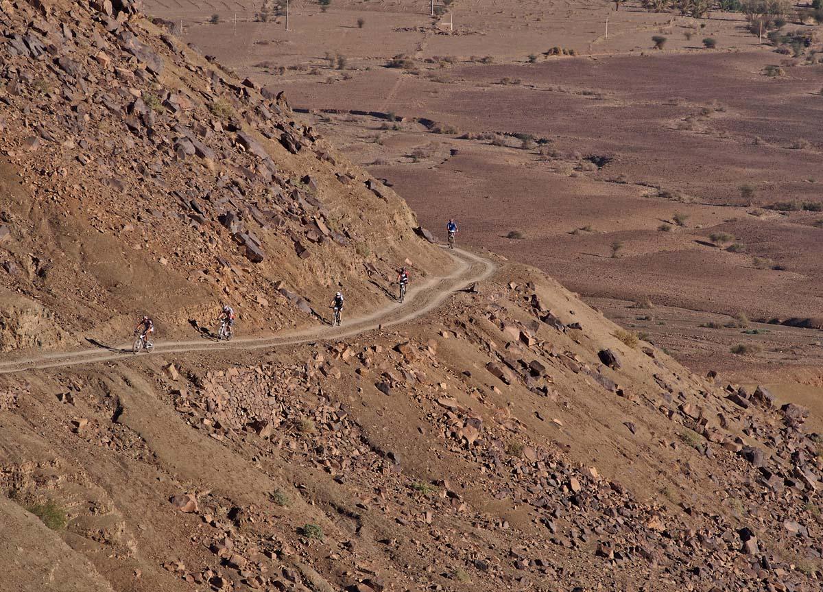 Ciclisti a spasso in Marocco